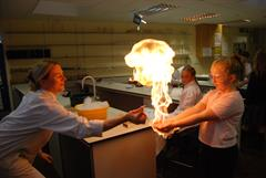 A firey Open Evening in St. Laurence College