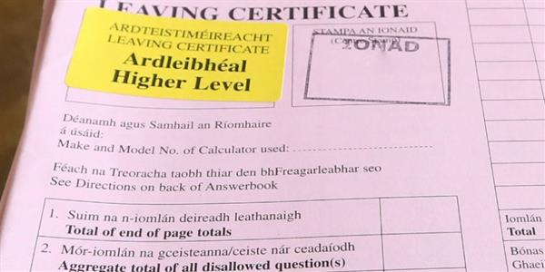 Principal's Letter to Leaving Certificate Parents and Students about Calculated Grades