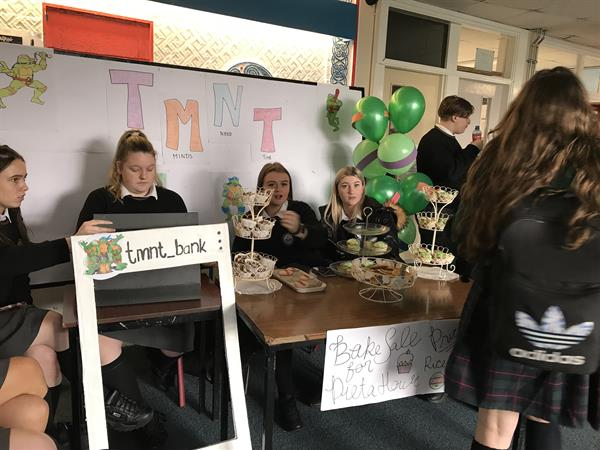 Transition Year Bank Raise Money for Pieta House